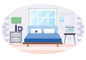 Illustrazione di camera da letto vettoriale