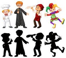 Set di personaggi di persone vettore