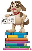 Cane e libri vettore