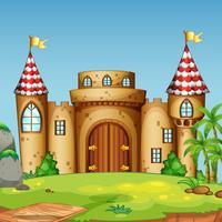 Una torre del castello in natura