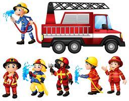 I vigili del fuoco vettore