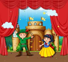 Bambini che fanno un dramma teatrale