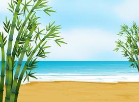 Una vista della spiaggia vettore