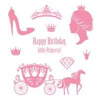 Princess Cinderella imposta collezioni. vettore