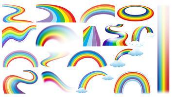 Set arcobaleno vettore