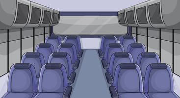 Scena in aereo con sedili blu vettore