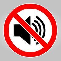 non fare un rumore forte. nessun altoparlante. nessuna icona audio vettore