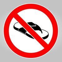 non indossare scarpe aperte vettore