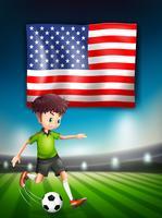 Modello di giocatore di football americano
