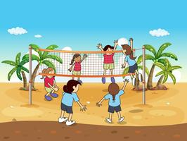 Beach volley vettore