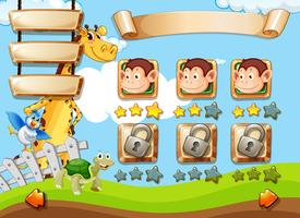 Animali sul modello di gioco