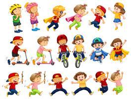 Un insieme di attività per bambini urbani vettore