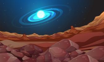 Sfondo dello spazio con terra marrone