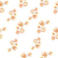Tessuto d'annata fertile floreale di stile dell'acquerello del modello senza cuciture, acquerello dei fiori isolato su fondo bianco. Disegnare fiori decorativi per carta, salvare la data, inviti di nozze, poster, banner design.