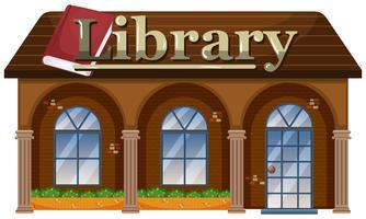 Esterno di una biblioteca vettore