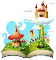 Tema di fiaba del libro aperto