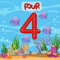 Numero quattro tema subacqueo