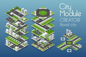 Creatore di moduli urbani vettore