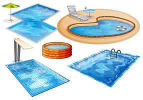 Una serie di piscine vettore