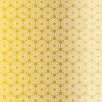 motivo a medaglione circolare ornato in oro bianco