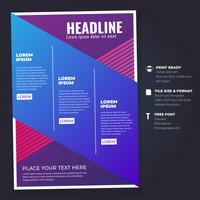 Modello di layout di progettazione di brochure aziendale Flyer vettore