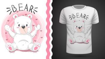 Simpatico orso - idea per t-shirt stampata vettore