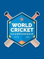 Eccezionale vettore di mazza da cricket