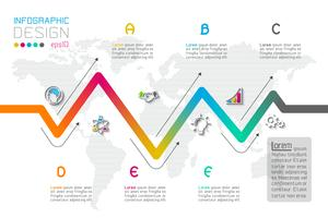 Opzioni del passaggio di affari e modello astratto di opzioni di numero di infographics.