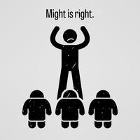 La forza è giusta.