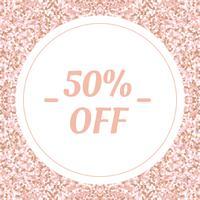 Banner di social media per il tuo blog o azienda. Carino rosa pastello oro rosa un design moderno. Modello vettoriale