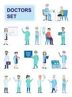Set di personale medico ospedaliero in piedi insieme