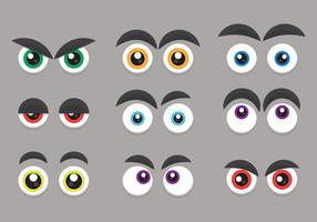 Set di occhi ed esordio di cartone animato vettore