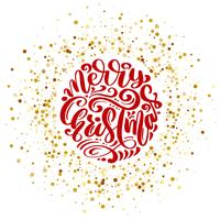 Modello di carta di disegno di lettering calligrafico di vettore di buon Natale testo. Tipografia creativa per poster regalo di auguri di vacanza. Banner stile font calligrafia