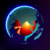 Riscaldamento globale vettore astratto