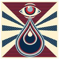 Retro disegno vettoriale occhio