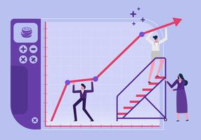 Illustrazione piana di vettore di scopi di Successfull dell'azienda