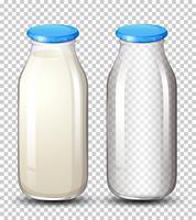 Set di bottiglie per il latte vettore