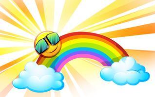 Un'estate con un arcobaleno vettore