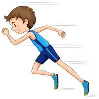 Uomo che corre in gara