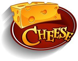 Lofo di formaggio con testo vettore