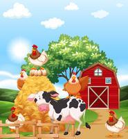 Animali da fattoria vettore