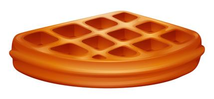 Pezzo di waffle su bianco
