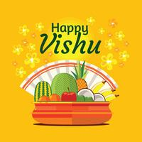 Frutta e verdura in pentola indiana tradizionale per Festival Vishu
