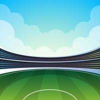 Illustrazione dello stadio di cricket vettore