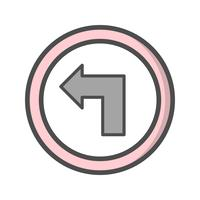 Vector Girare a sinistra Icona