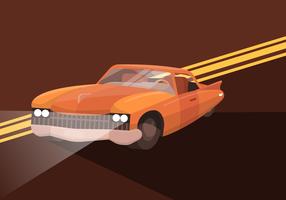 Illustrazione piana di vettore del retro automobile classica del muscolo
