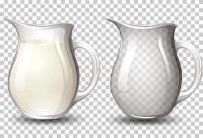 Latte in vaso sfondo trasparente vettore