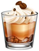 Torta al caffè in vetro
