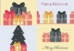 Pacchetto di sfondi vettoriali regalo di Natale