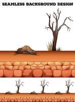 Sfondo senza soluzione di continuità con il deserto e l'albero